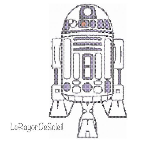 Modern cross stitch pattern Star Wars R2 D2   Pinterest   Patrones ...