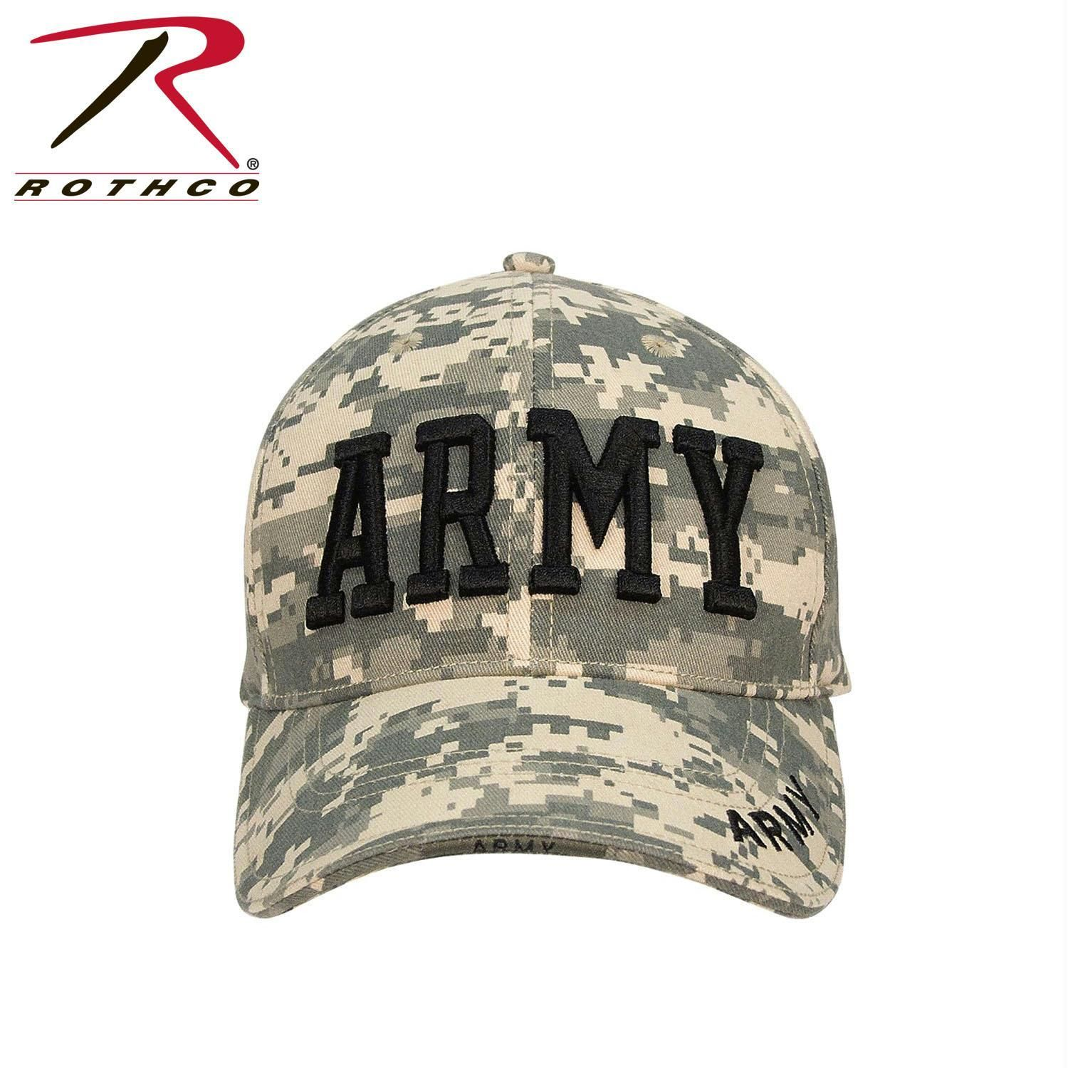 71c0fb38134 Rothco Deluxe Army Embroidered Low Profile Insignia Cap