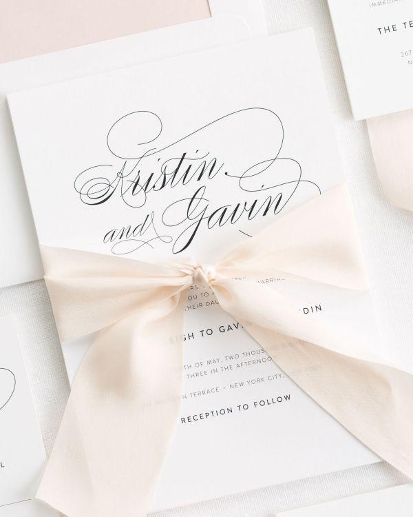 Classic Ribbon Wedding Invitations | Ribbon Colours | Pinterest | Shine Wedding  Invitations, Wedding Ribbons And Wedding Stationary