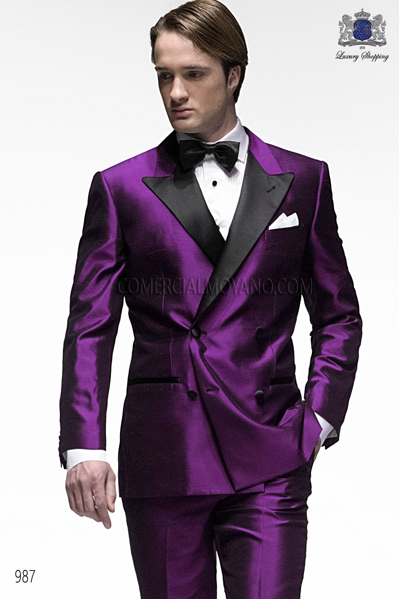 Italian bespoke suit, purple wedding tuxedo style 987 ONGala ...