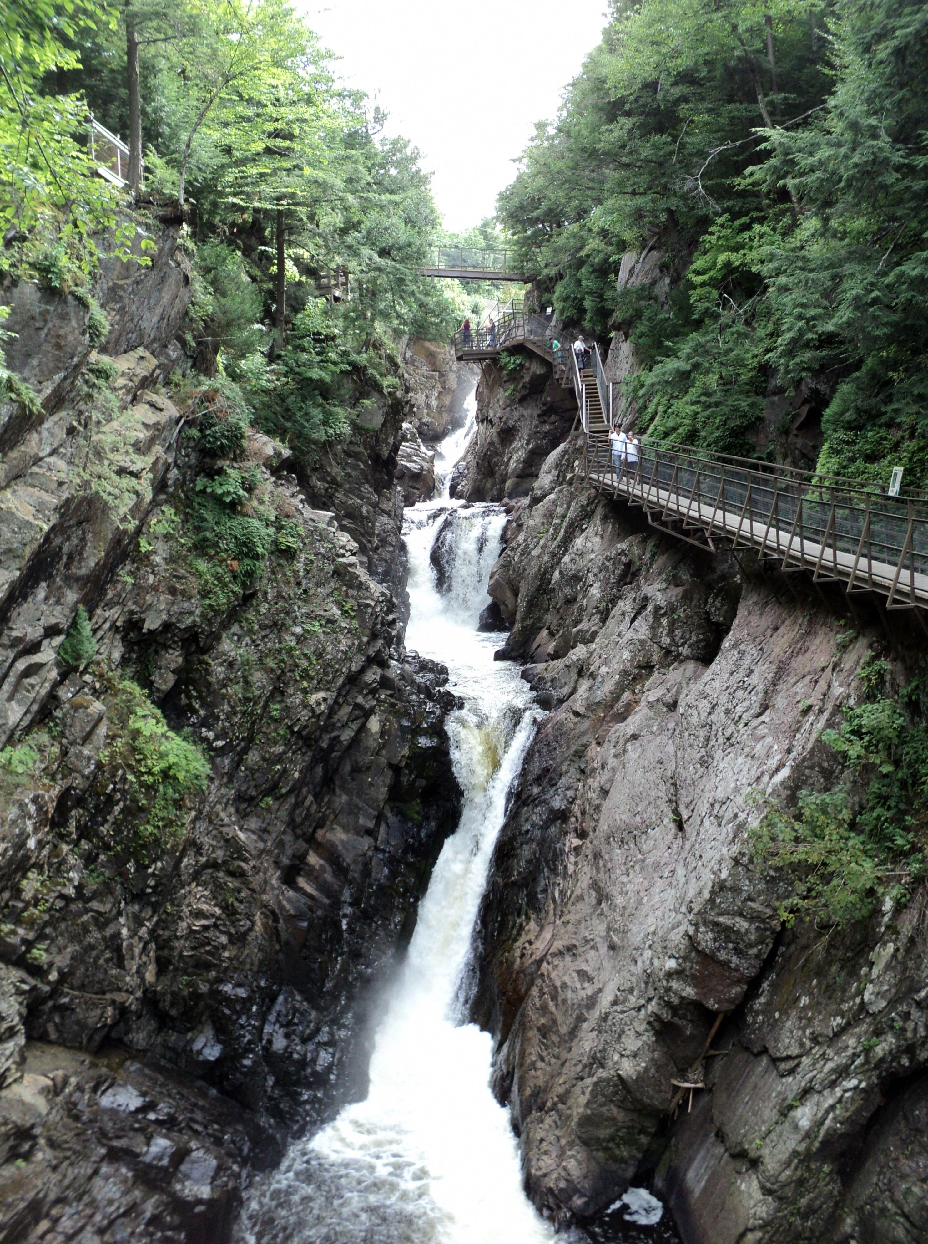 Water going down at Adirondack Mountains, New York image