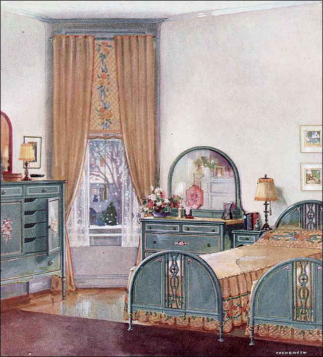 1924 Simmons Bedroom - 1920s Design Inspiration | 1920s ...