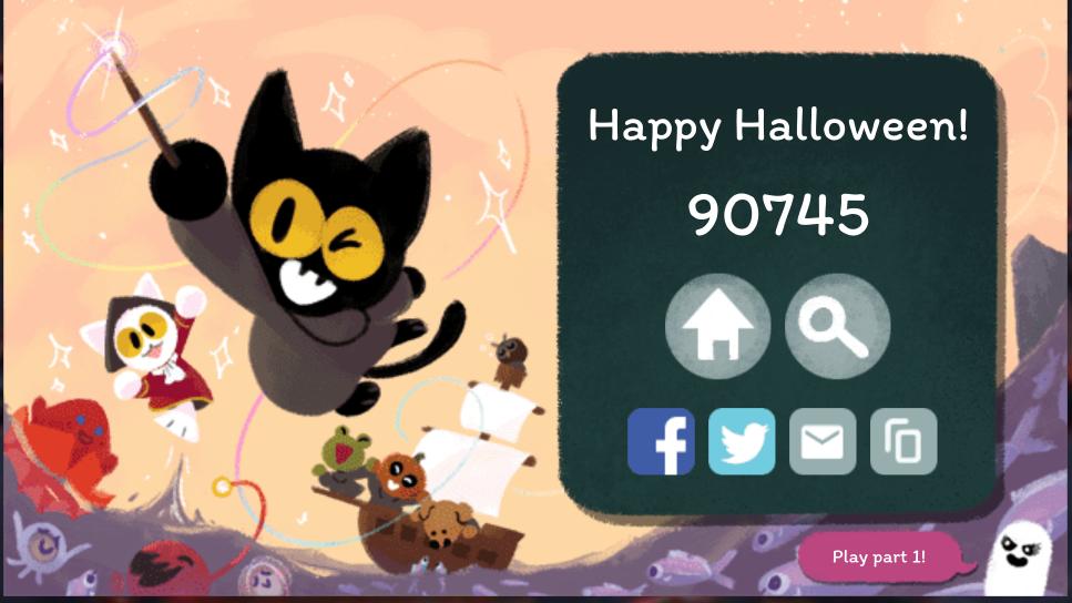 0 Deaths Insane Score Halloween Doodle Halloween Google Halloween