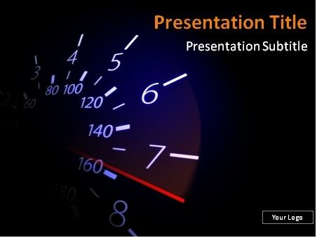 FREE Speedometer with red needle PowerPoint template This - it powerpoint template
