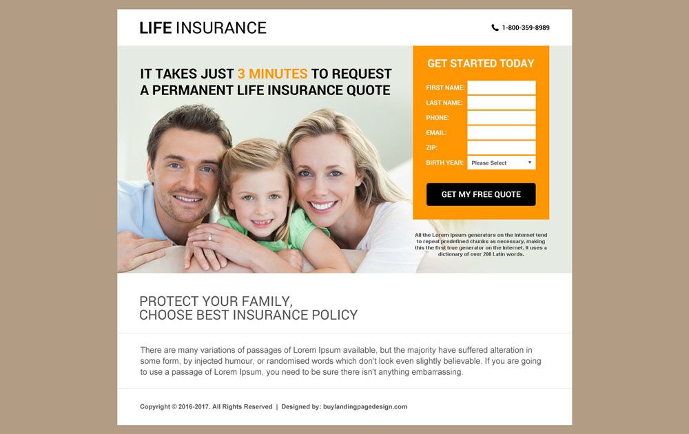 Life Insurance Agency Html Website Template Design In 2020