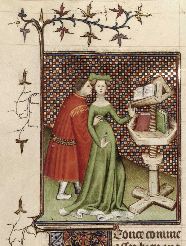 Image result for medieval manuscript philosopher and wife