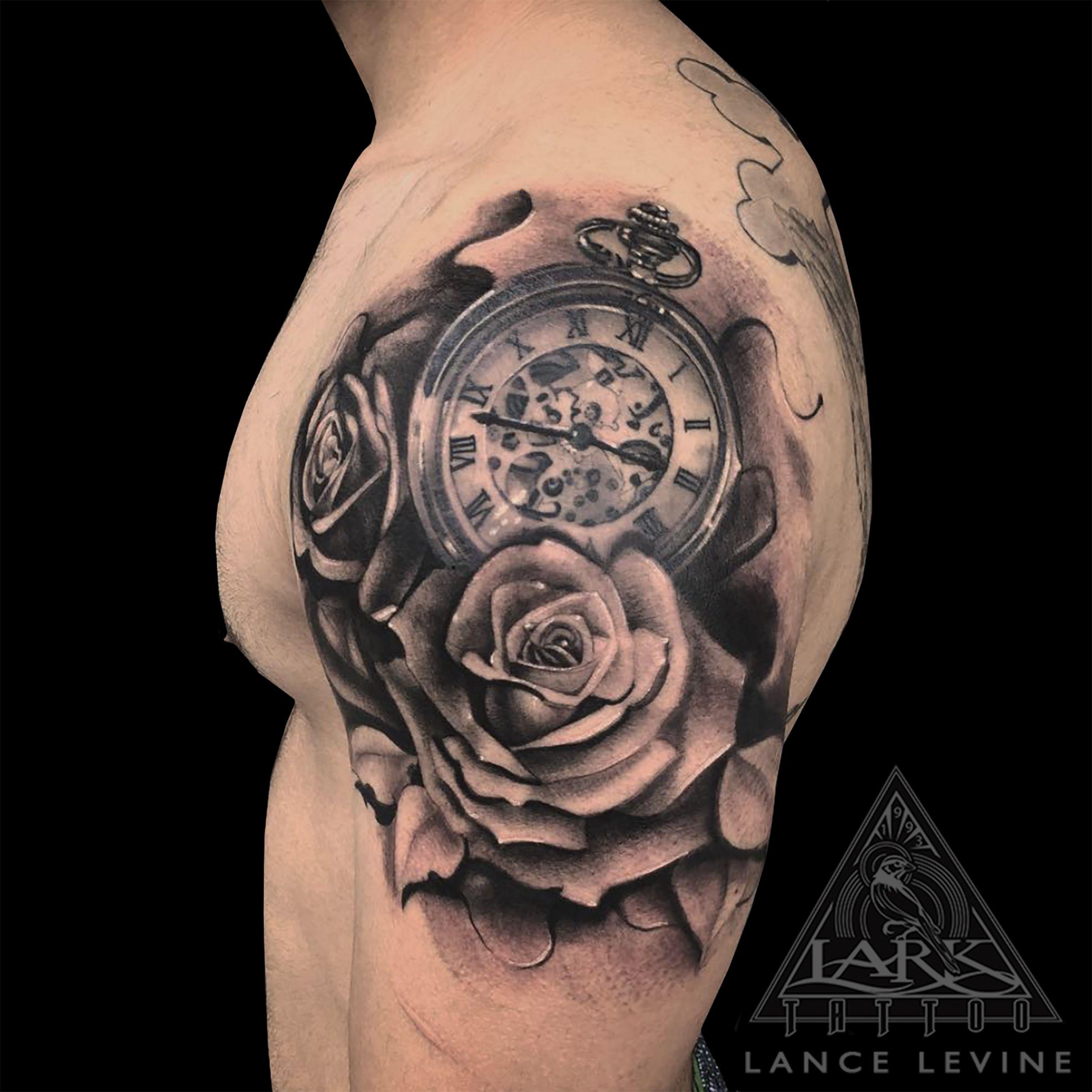 Lance Levine Mens Shoulder Tattoo Rose Tattoos For Men Tattoo Designs Men