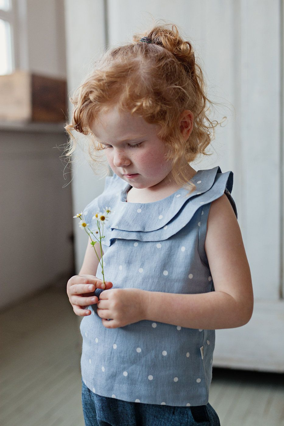, Flower girl shirt, Blue baby tunic, Linen girl blouse, Linen girl tunic, Organic baby clothes, 1st birthday outfit, summer baby tunic, My Babies Blog 2020, My Babies Blog 2020