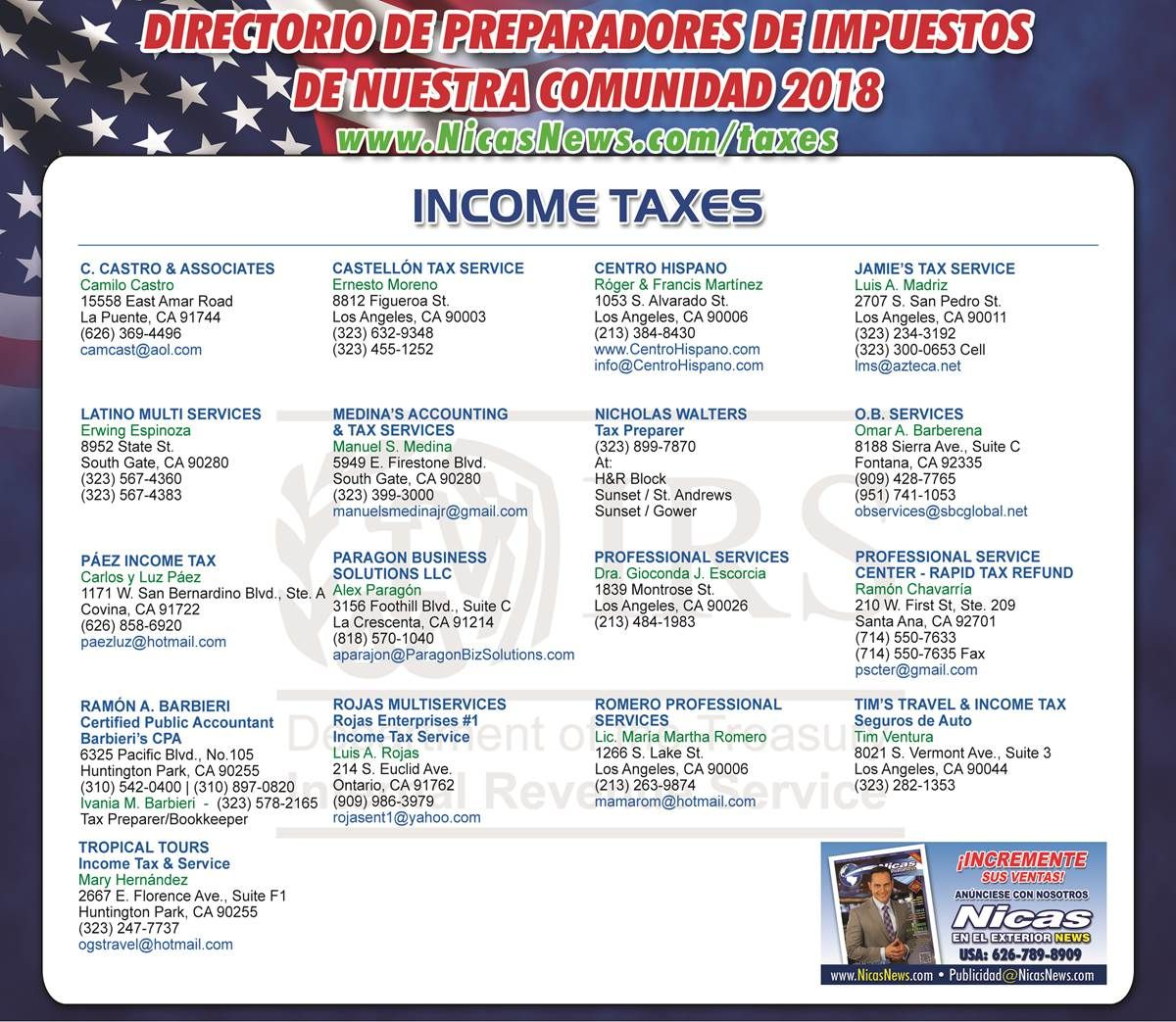 Preparadores De Impuestos Income Tax