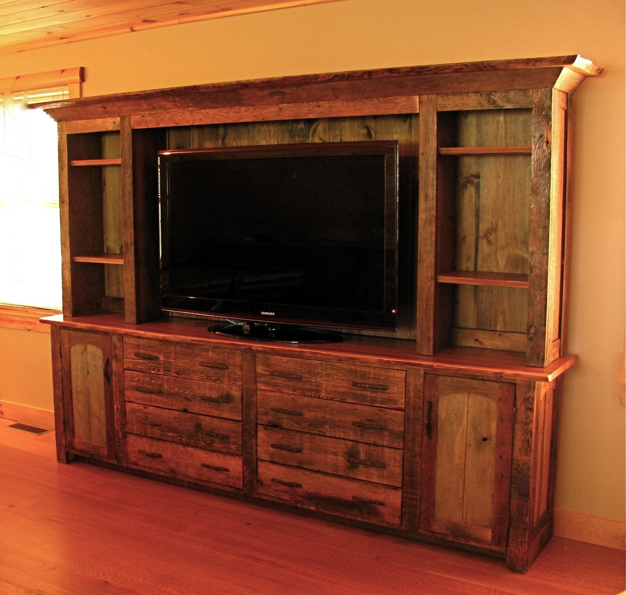 Unique Home Furnishings: Custom Made Rustic Entertainment Center In 2019
