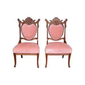 The Emilies: Rose Velvet Parlor Chairs || Something Vintage Rentals: Vintage rentals and handcrafted pieces for weddings and events in DC, Maryland, and Virginia ||