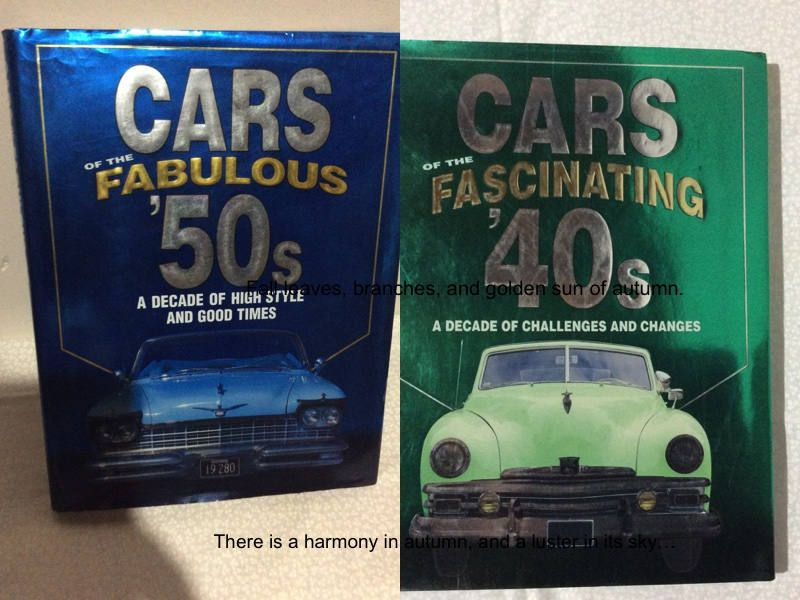 2 Vintage Books Cars Of The Fascinating 40 S Fabulous 50 S