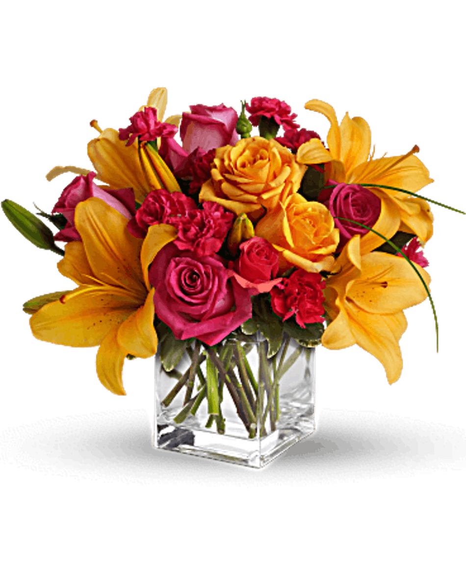 Send Someone This Vibrant Mixture Of Opulent Orange And Zesty Pink