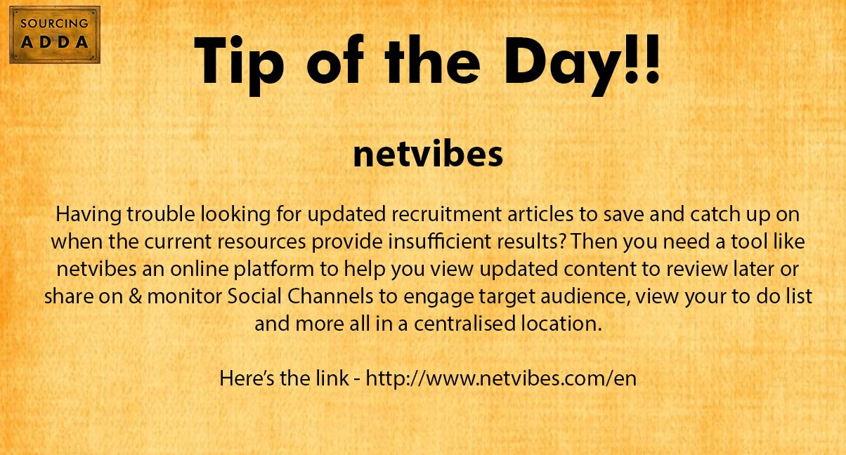 Sourcingtip Today's tip of the day!
