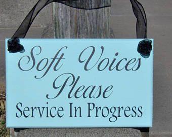 In Session Please Do Not Disturb Wood Sign Vinyl Sign Business Door Sign Office Supply Office Decor Quiet Door Hanger Massage Salon Plaque