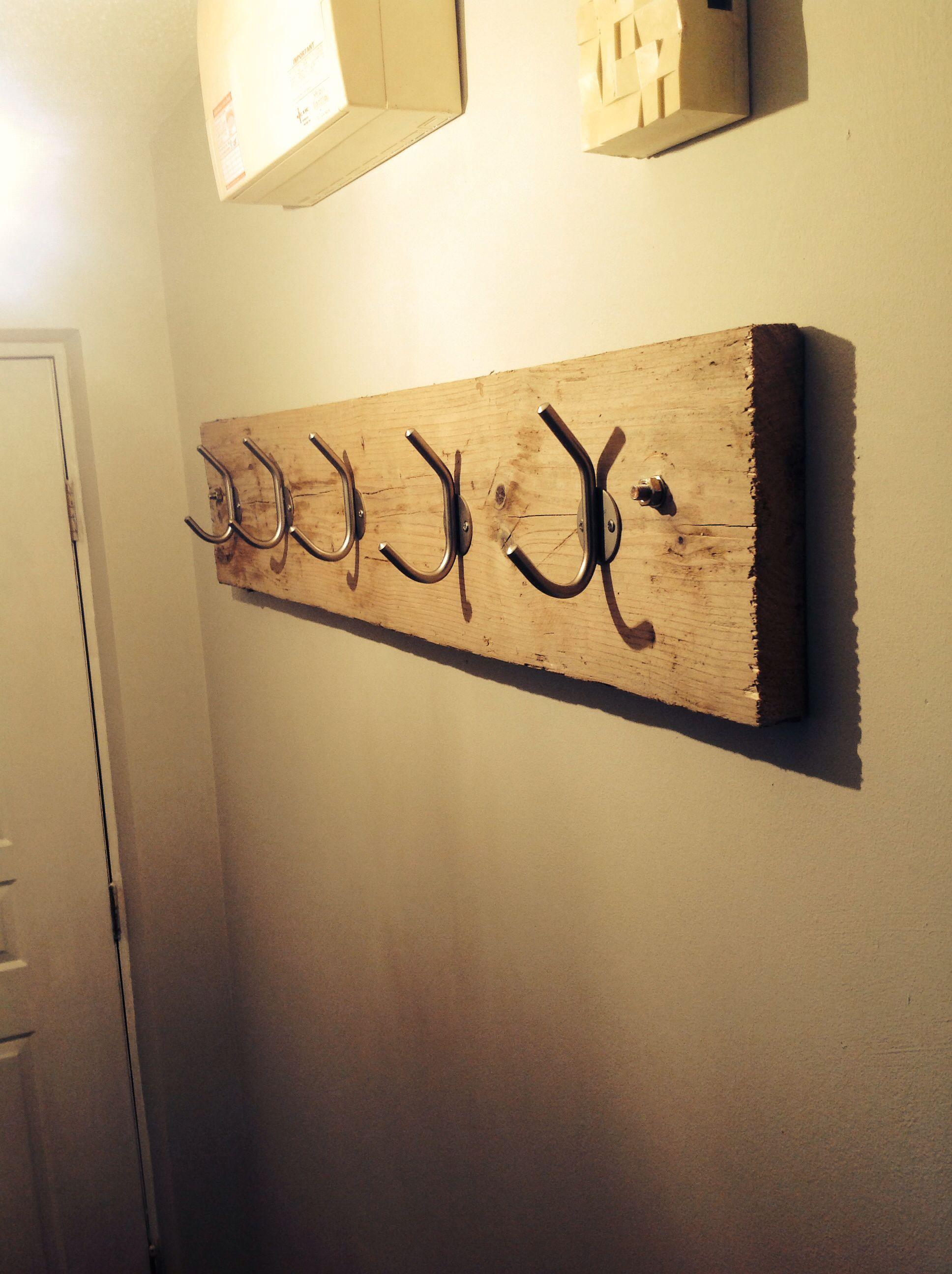 Reclaimed scaffold board coat hook DIY | Decor ideas | Pinterest ...