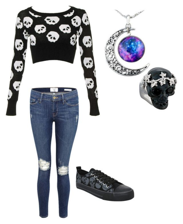 """Untitled #50"" by ilovemyboyfriend115 ❤ liked on Polyvore featuring Frame Denim and Alexander McQueen"
