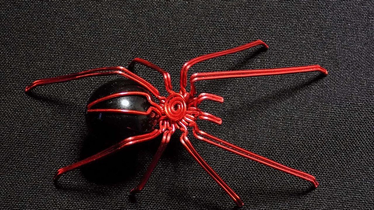 Araña de alambre Tutorial, Wire spider | tutoriales | Pinterest