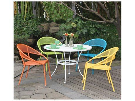 Peachy Woodard Spright Adults Set Wrought Iron Round Table And Andrewgaddart Wooden Chair Designs For Living Room Andrewgaddartcom