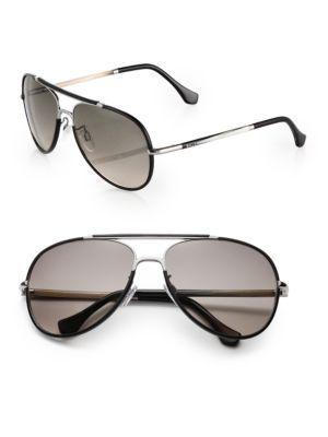 677cfe302 BALENCIAGA Leather-Trimmed 60Mm Aviator Sunglasses. #balenciaga #sunglasses