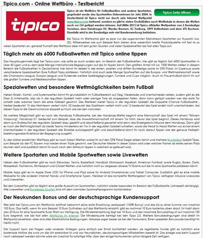 Tipico Com Sportwetten
