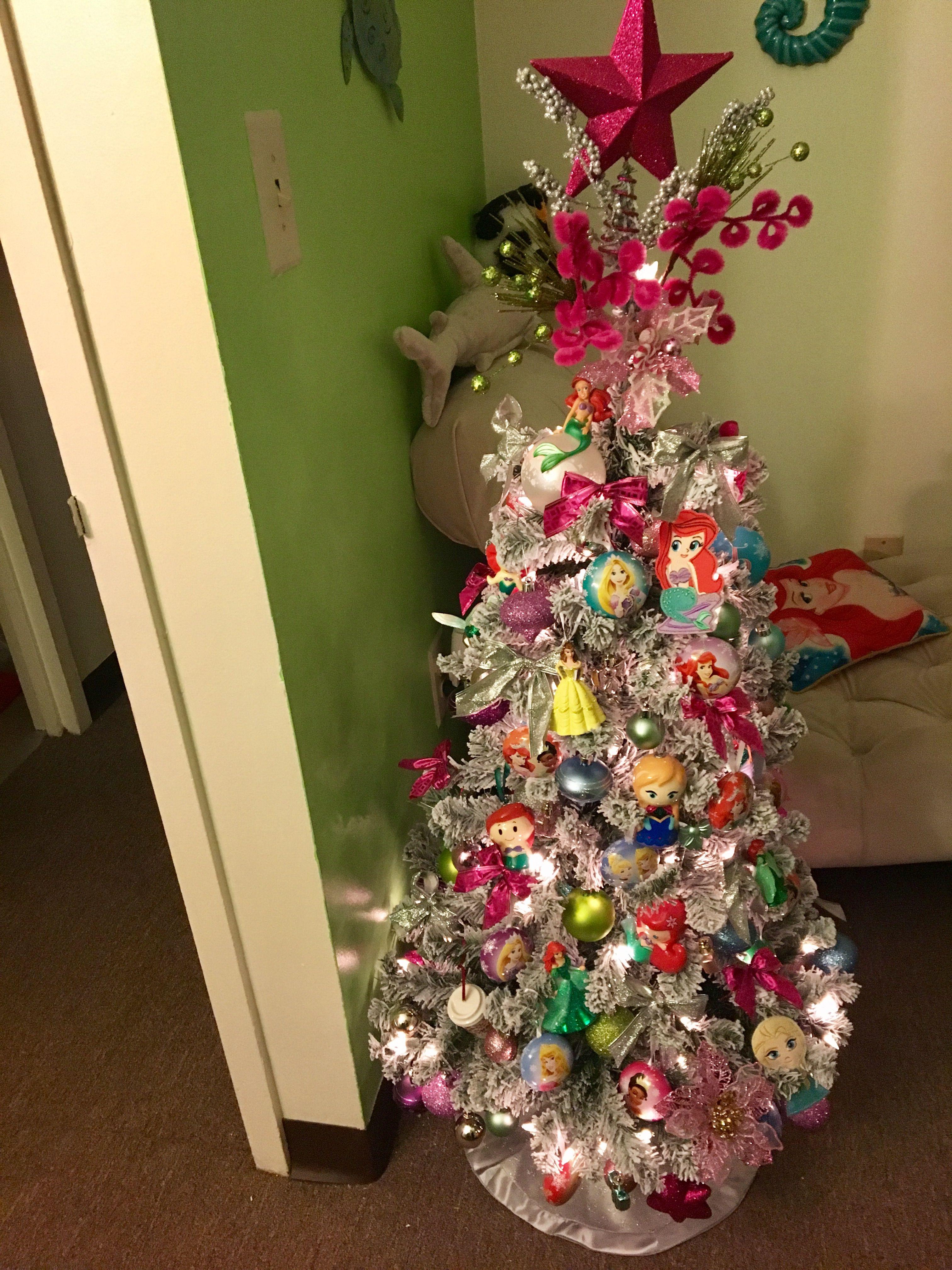 My Small Disney Princess Inspired Christmas Tree Disney Christmas Tree Holiday Decor Christmas Tree