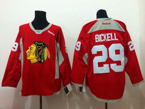Chicago Blackhawks #29 Bryan Bickell 2014 Training Red Jersey