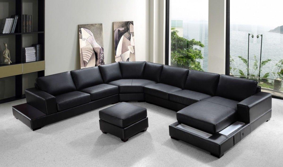 Divani Casa Ritz Modern Bonded Leather Sectional Sofa