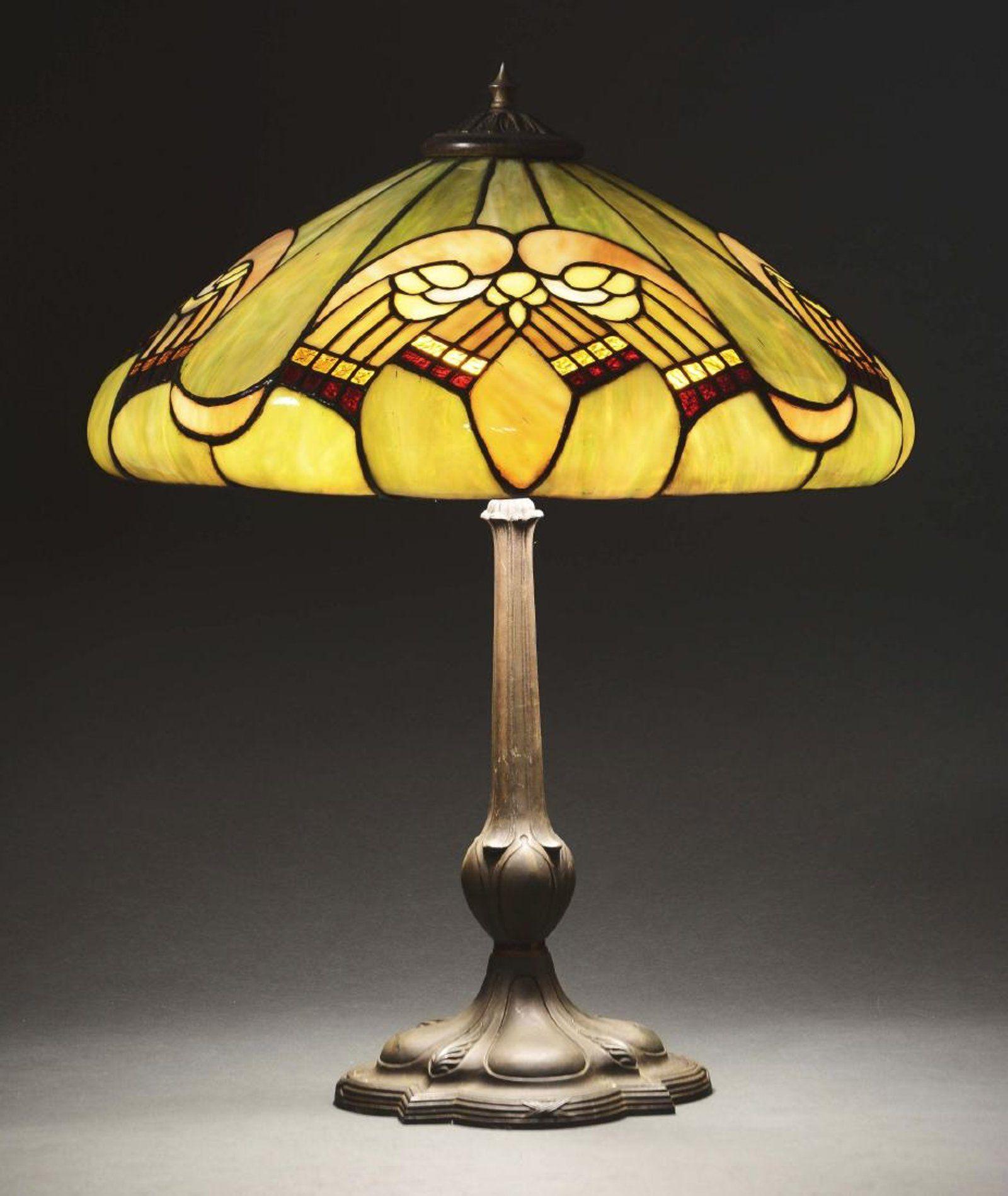 J A Whaley Leaded Table Lamp Jun 21 2018 Dan Morphy Auctions In Pa Lamp Table Lamp Led Table Lamp