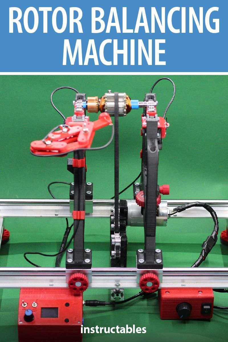 Simple Rotor Balancing Machine Engineering Plastics Organizing Wires Led Strobe