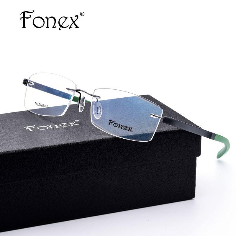 compare prices fonex no screw ultralight design square rimless ...