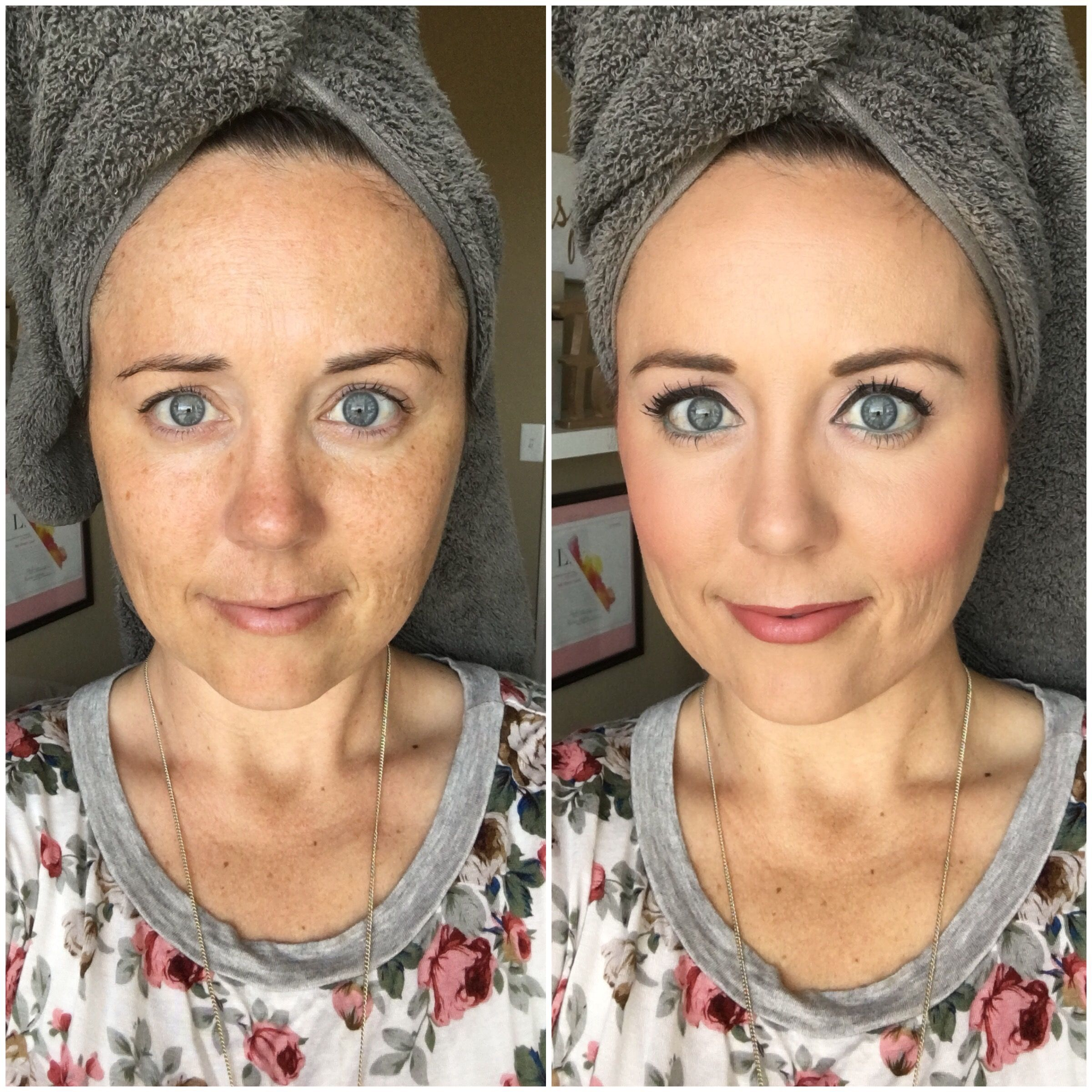 Before and after using LimeLight by Alcone. Beauty