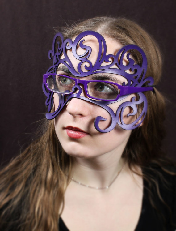 287febed16 Swirly Art Nouveau leather mask in purple for by TomBanwell ...