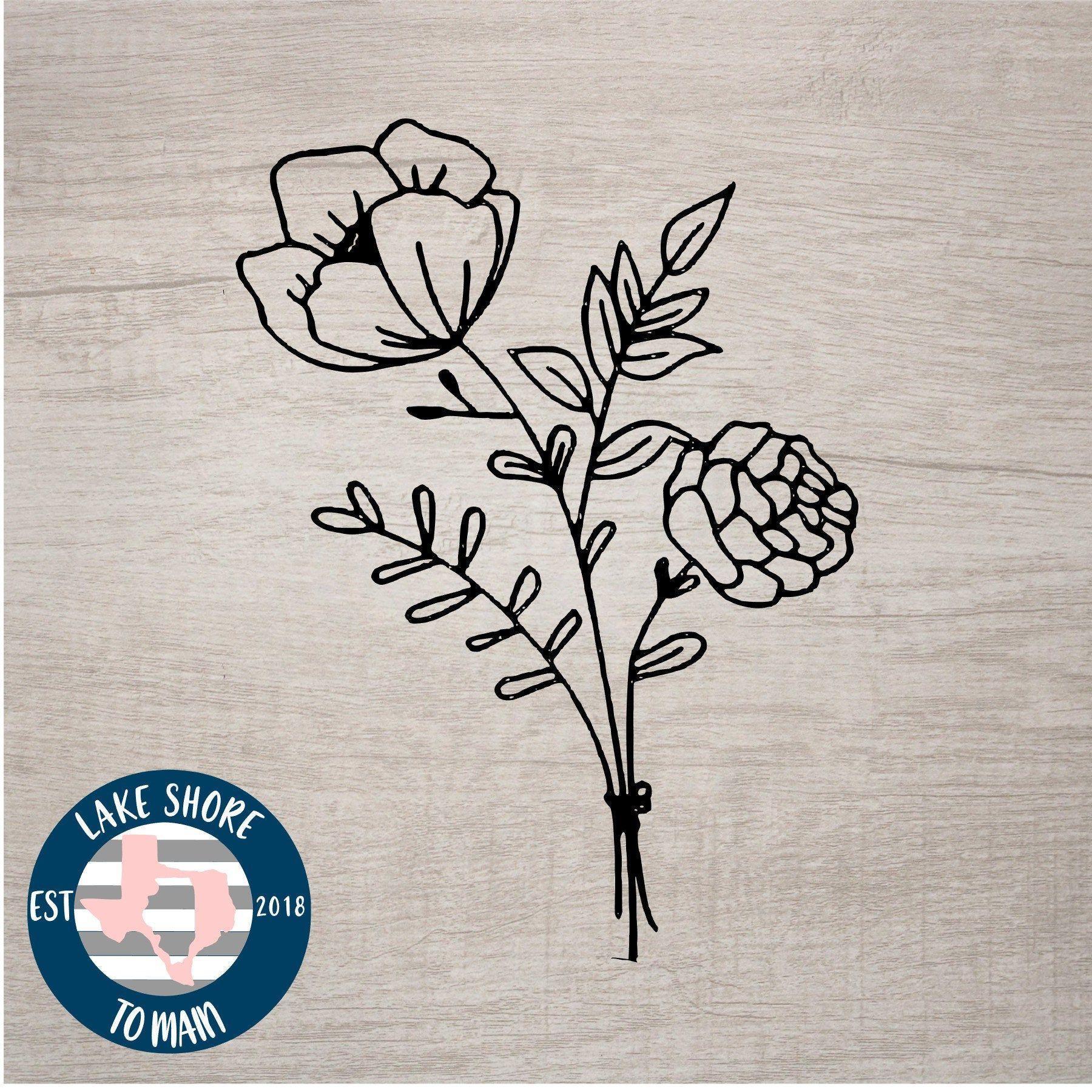 Hibiscus Flower Decal Patterned Vinyl Decal Hibiscus Flower Etsy In 2020 Pattern Decal Patterned Vinyl Vinyl Decals