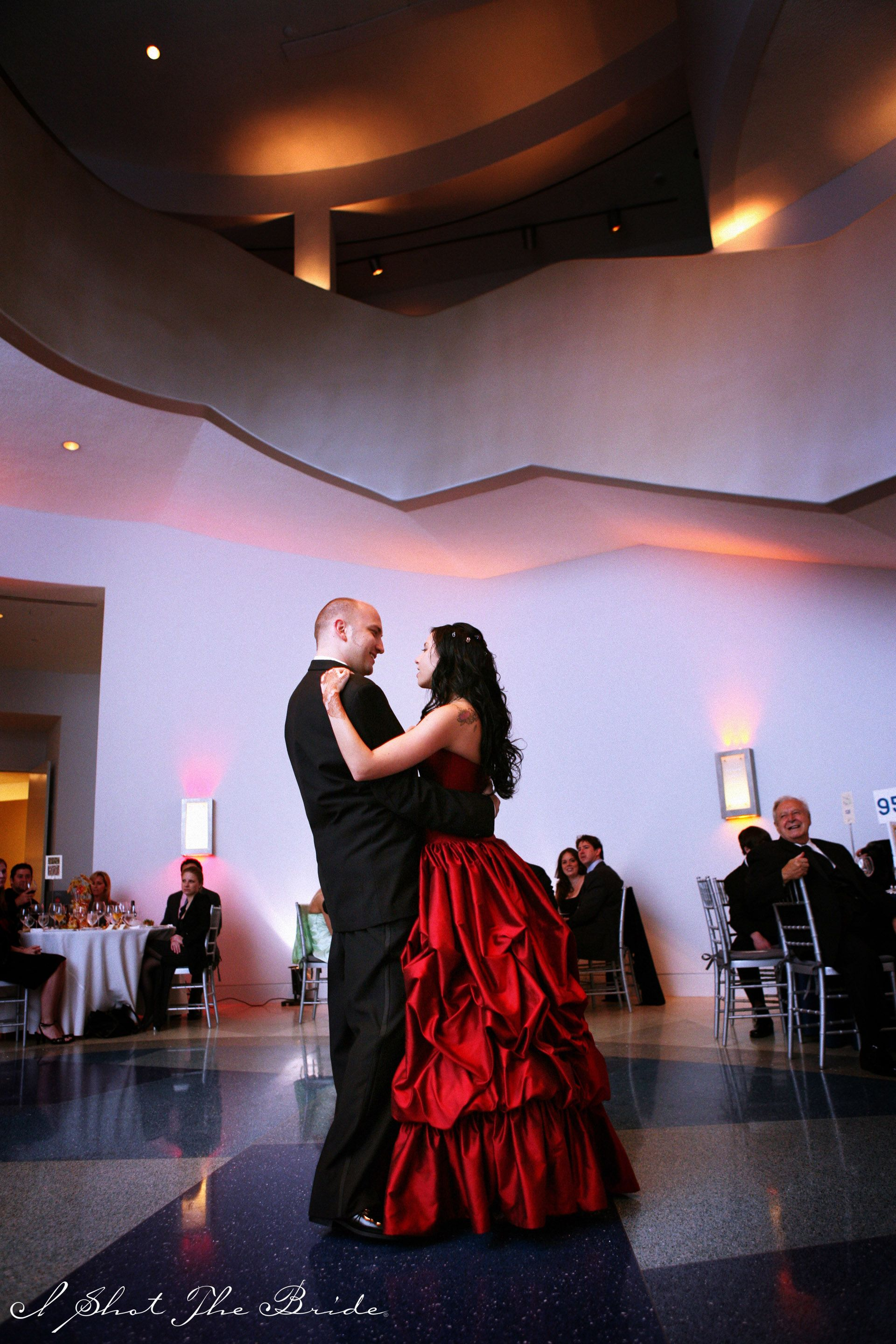 Groom And Bride With Red Ceremony Reception Weddings At Norton Museum Of