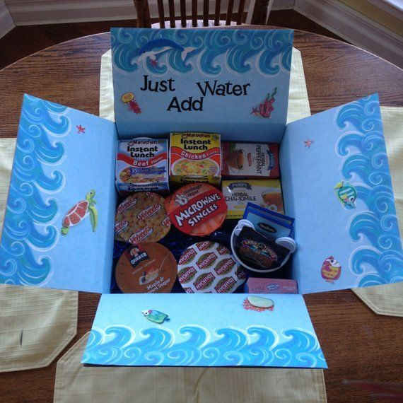 Items similar to Just Add Water Care Package! Thoughtfully made with numerous convenient items your college kid will enjoy! on Etsy