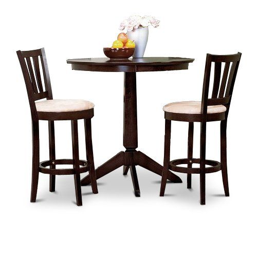 Amazing Espresso Counter Height Dining Bar Table And 2 Bar Stools Set $290.00 For  The Kichen,