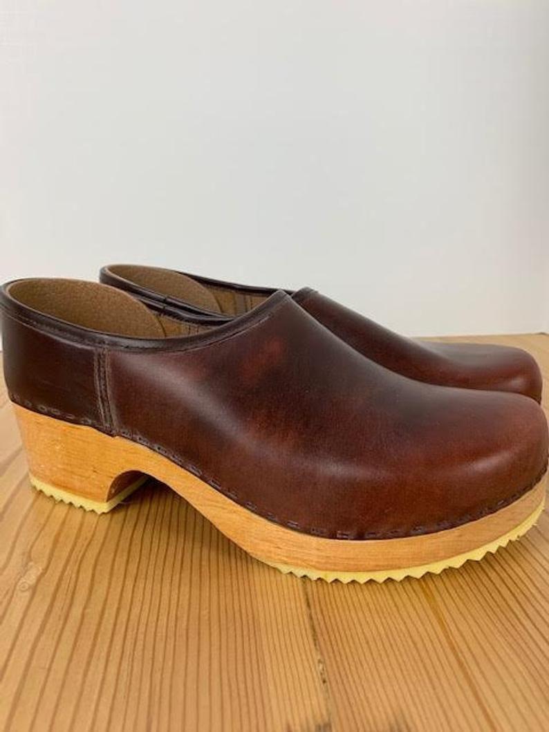 Clogs, Leather clogs, Swedish clogs