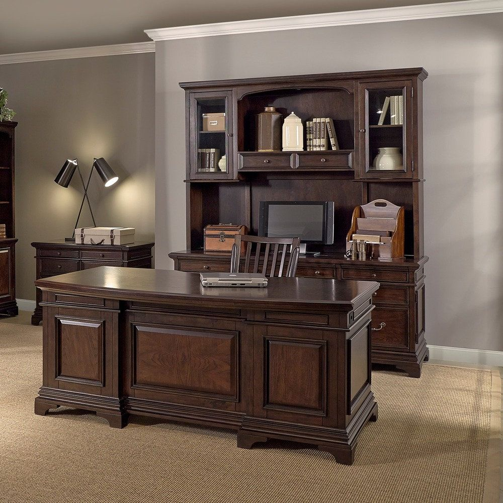 Office Furniture Free Shipping: Drake 72-inch Executive Desk, Credenza With Hutch, Lateral