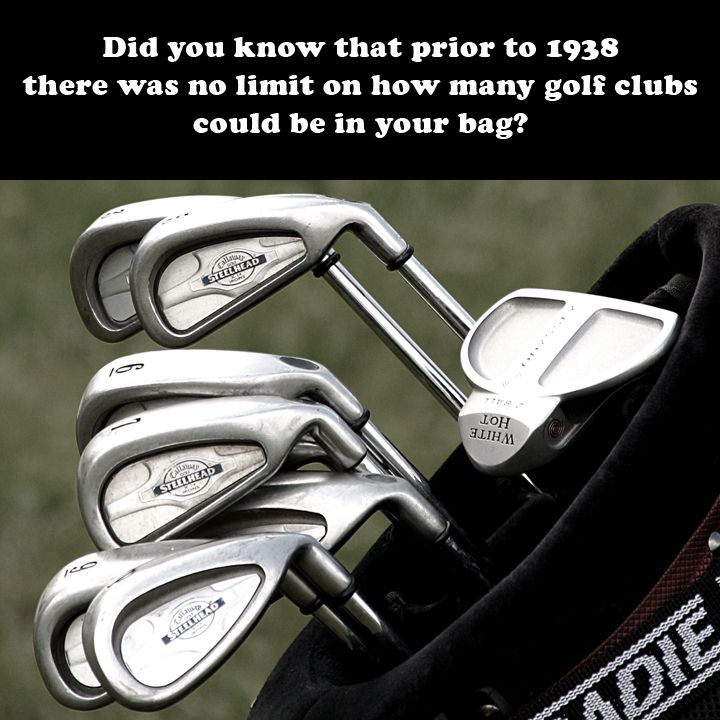 In 1938 The Usga Insuted 14 Club Limit Which Was Adopted By