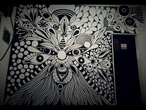 ©MarianoPadilla - Mur8al - Wall Painting - Uni Posca on m² wall - Club Social y Deportivo 8 de Febrero