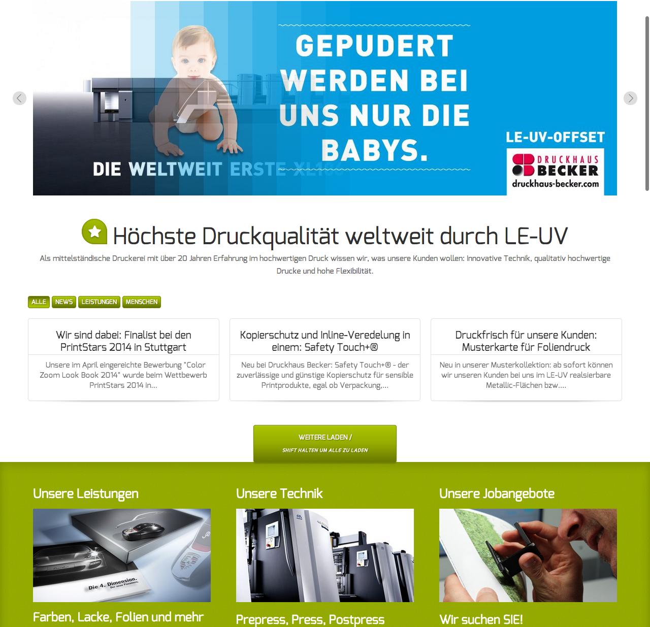 Referenz Webdesign - Druckhaus-Becker.com