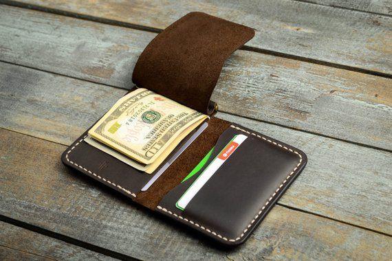 8d125191f29e Leather Money Clip Wallet, Mens Leather Money Clip Wallet, Mens Leather  Bifold Wallet