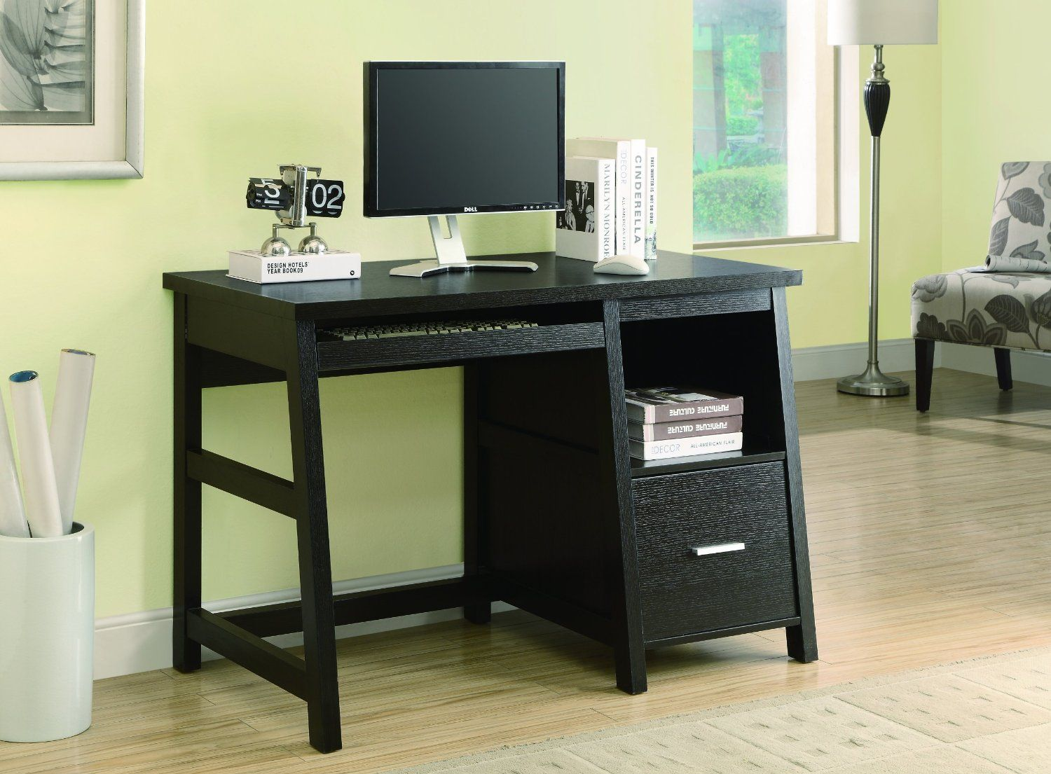 Brilliant Monarch Specialties 48 Inch Computer Desk With Storage Home Interior And Landscaping Dextoversignezvosmurscom