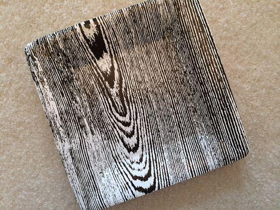Black Wood Grain Paper Plate (set of ... & Black Wood Grain Paper Plate (set of 8) | petal u0026 forrest etsy ...