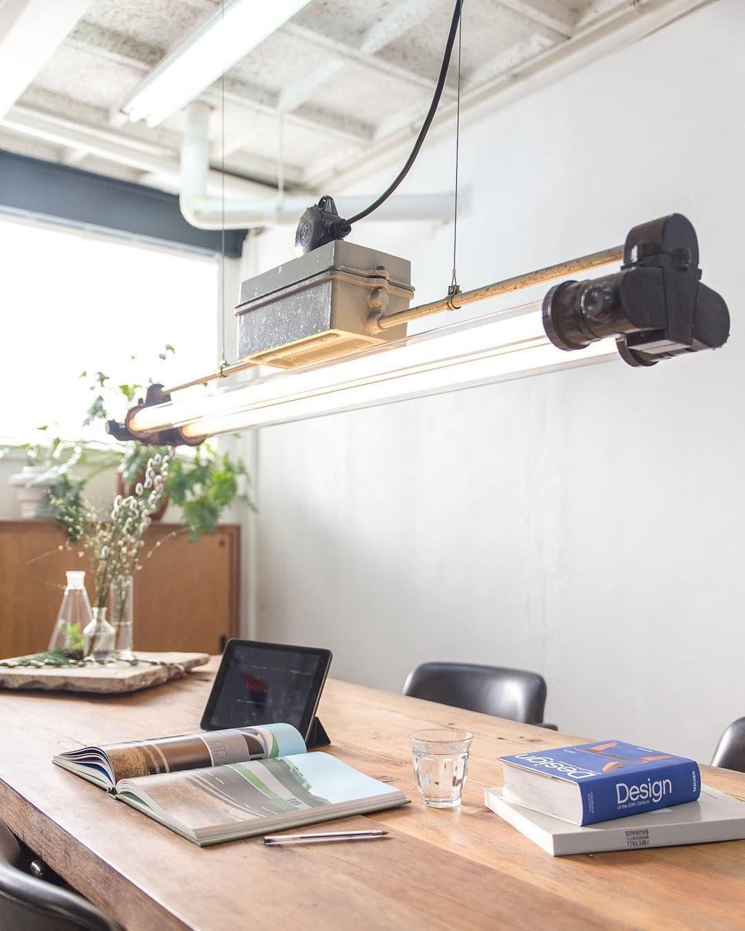 Industrial fluorescent fixture interior interiordesign doubledunicorn warmlight industrial different types of