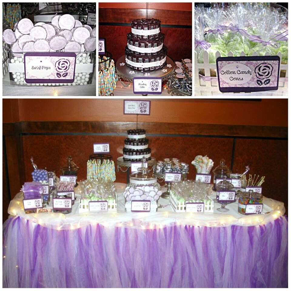 Purple candy buffet at Quans Kitchen HanoverMA wwwsweetchickscandy