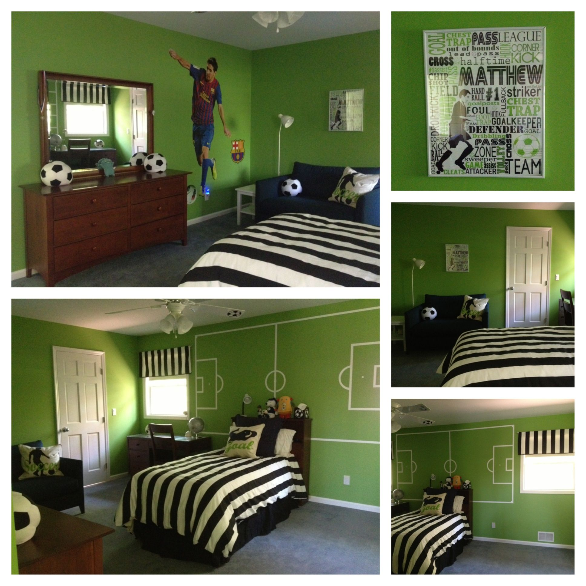 I Finally Finished His Soccer Room Love It Soccer Room Soccer