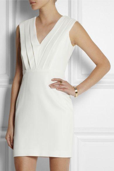 SAINT LAURENT Crepe mini dress  NET-A-PORTER