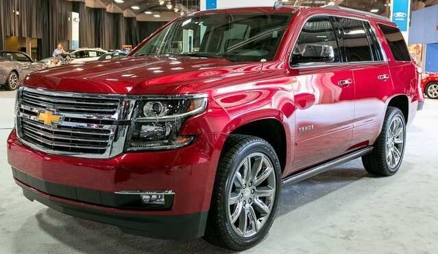2017 Chevrolet Tahoe Red Color Alloy Wheels